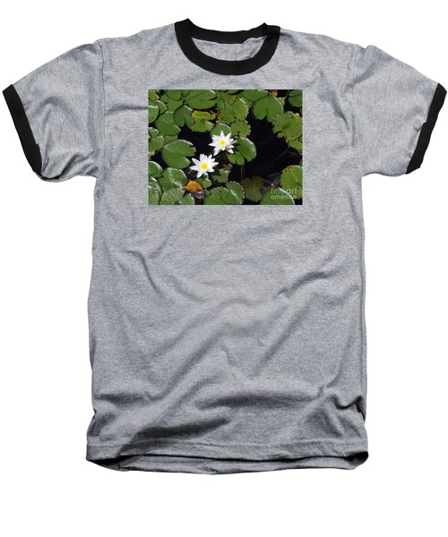 Baseball T-Shirt featuring the photograph 2 Water Lily by Robert Nickologianis