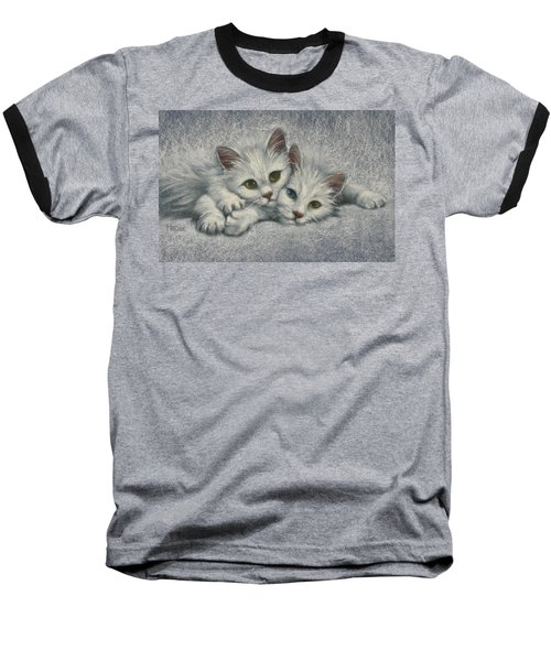 Baseball T-Shirt featuring the painting White On White by Cynthia House