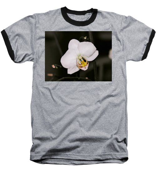 Baseball T-Shirt featuring the photograph White Orchid by Sherman Perry