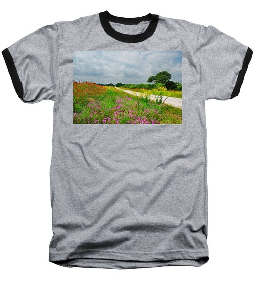 Wildflower Wonderland Baseball T-Shirt by Lynn Bauer