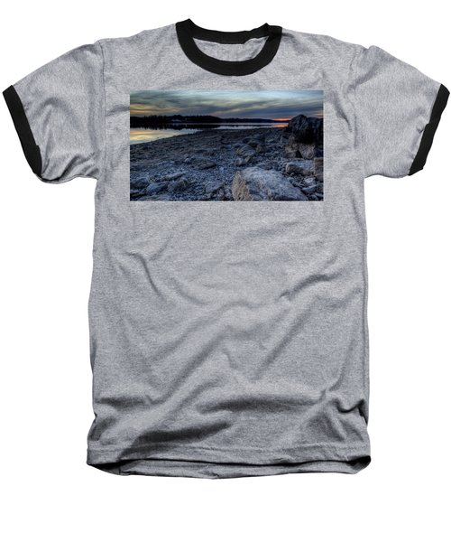 Winter Sunset On The Lake Baseball T-Shirt