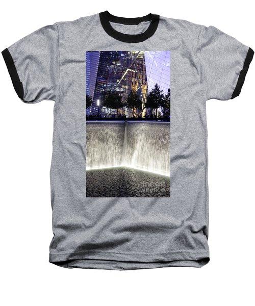World Trade Center Museum Baseball T-Shirt by Lilliana Mendez