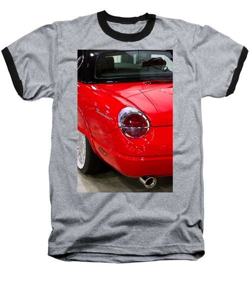 2002 Red Ford Thunderbird-rear Left Baseball T-Shirt by Eti Reid
