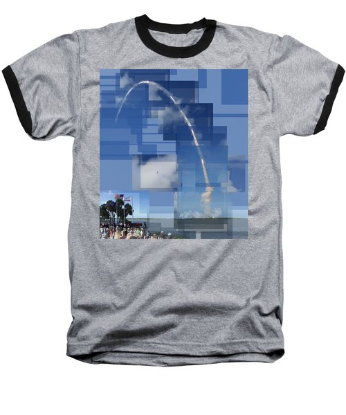 2008 Space Shuttle Launch Baseball T-Shirt