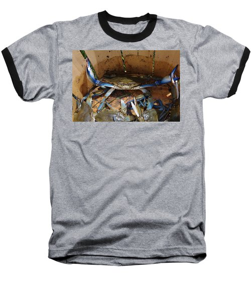 Baseball T-Shirt featuring the photograph 24 Crab Challenge by Greg Graham
