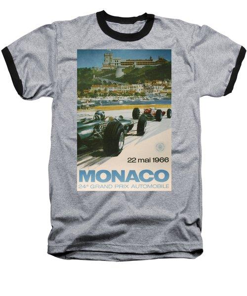 24th Monaco Grand Prix 1966 Baseball T-Shirt
