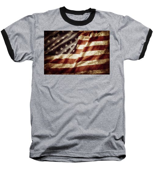 American Flag 53 Baseball T-Shirt