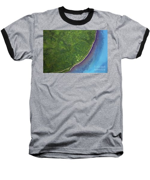 Iceland Aerial Photo Baseball T-Shirt