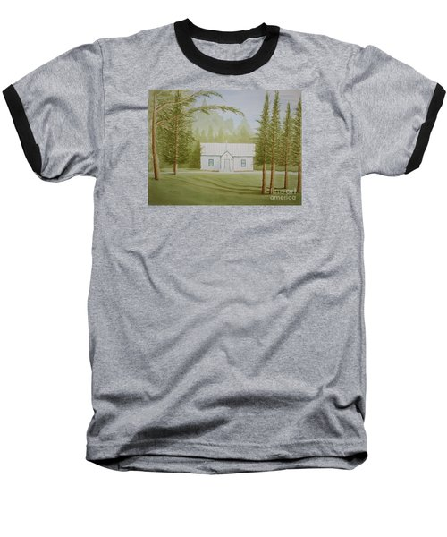 Baseball T-Shirt featuring the painting A North Carolina Church by Stacy C Bottoms