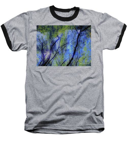 Baseball T-Shirt featuring the photograph Abstract Forest by France Laliberte