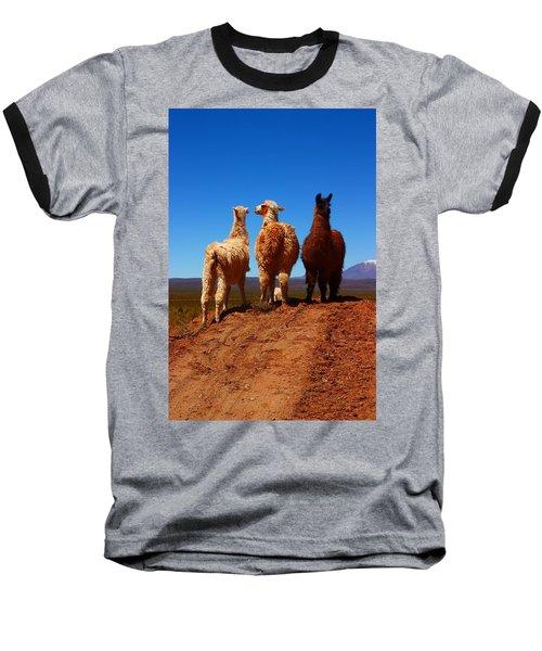 3 Amigos Baseball T-Shirt by FireFlux Studios