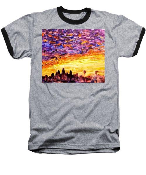Angkor Sunrise Baseball T-Shirt