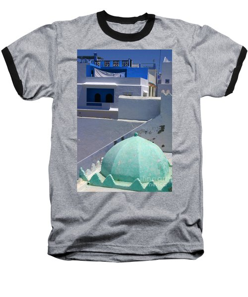 Baseball T-Shirt featuring the photograph Asilah Meaning Authentic In Arabic Fortified Town On Northwest Tip Of Atlantic Coast Of Morocco by Ralph A  Ledergerber-Photography
