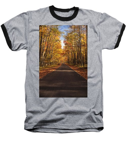 Baseball T-Shirt featuring the photograph Autumn Drive by Andrew Soundarajan