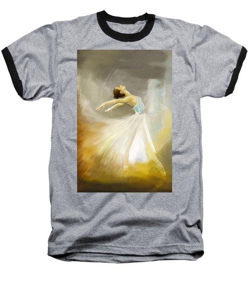 Ballerina  Baseball T-Shirt by Corporate Art Task Force