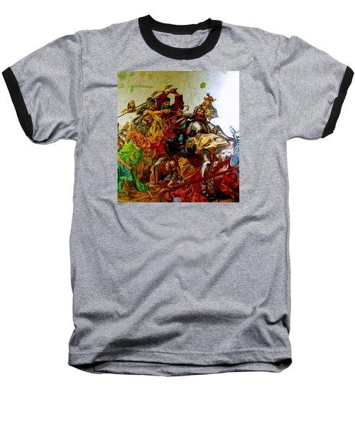 Baseball T-Shirt featuring the painting Battle Of Grunwald by Henryk Gorecki
