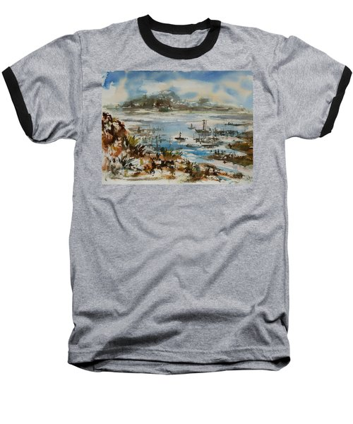 Baseball T-Shirt featuring the painting Bay Scene by Xueling Zou