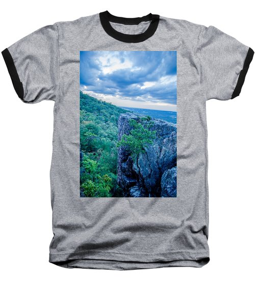 Baseball T-Shirt featuring the photograph Beautiful Aerial Landscape Views From Crowders Mountain Near Gas by Alex Grichenko
