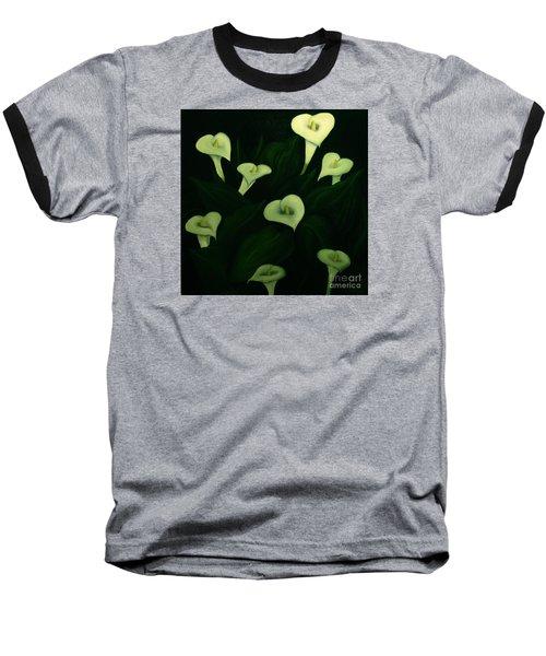 Calla Lilies Baseball T-Shirt by John Stuart Webbstock