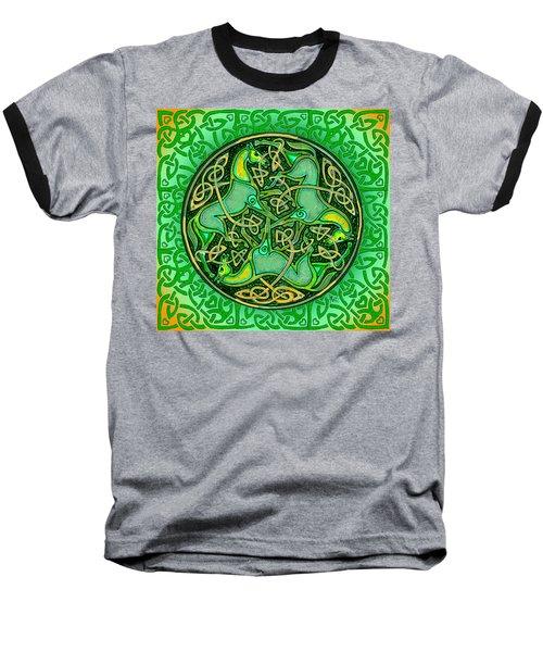 3 Celtic Irish Horses Baseball T-Shirt by Michele Avanti
