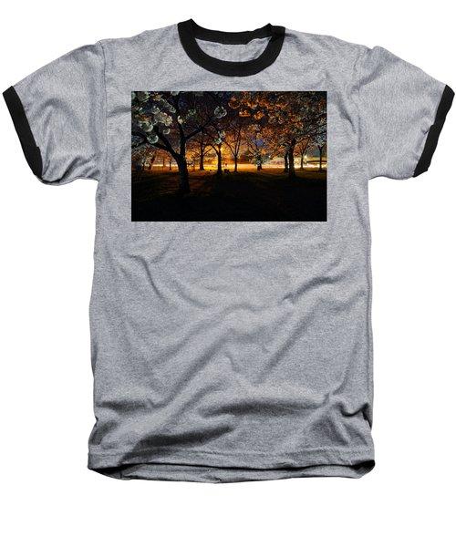Cherry Blossoms At Night Baseball T-Shirt