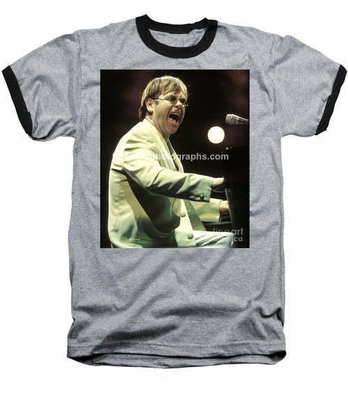 Elton John Baseball T-Shirt by Concert Photos