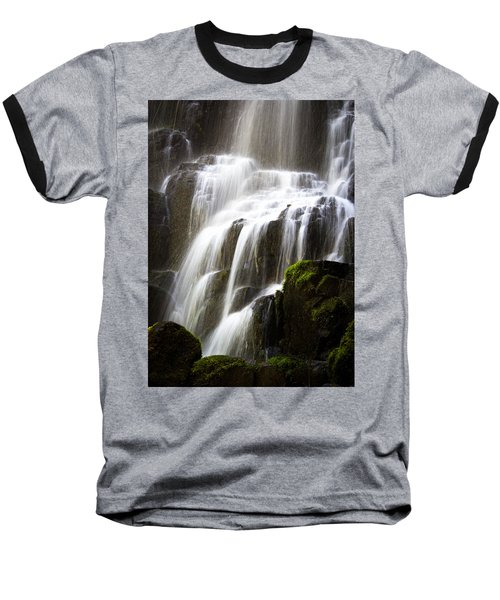 Fairy Falls Baseball T-Shirt by Patricia Babbitt