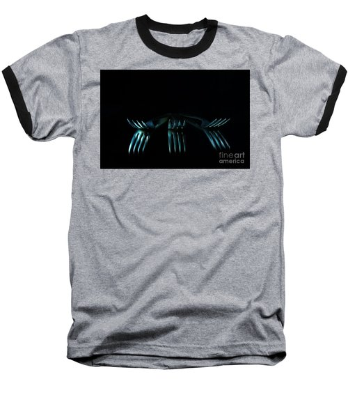 Baseball T-Shirt featuring the photograph 3 Forks by Randi Grace Nilsberg