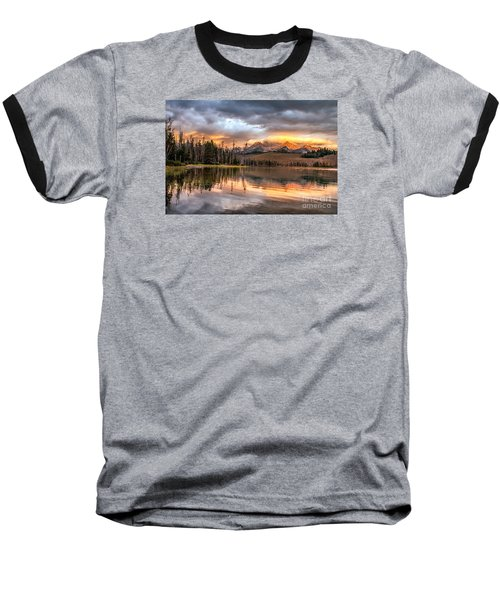 Golden Sunrise Baseball T-Shirt by Robert Bales