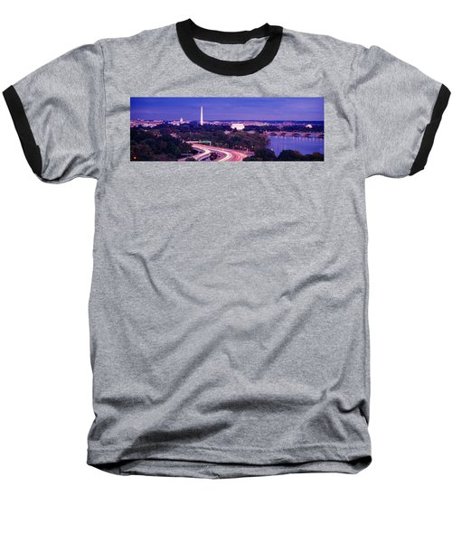 High Angle View Of A Cityscape Baseball T-Shirt