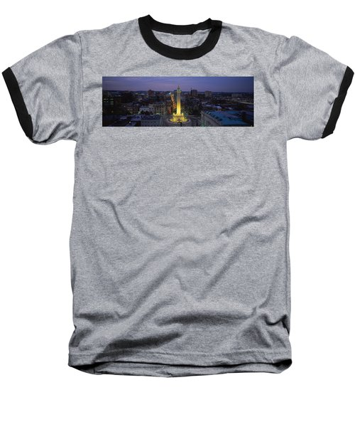 High Angle View Of A Monument Baseball T-Shirt by Panoramic Images