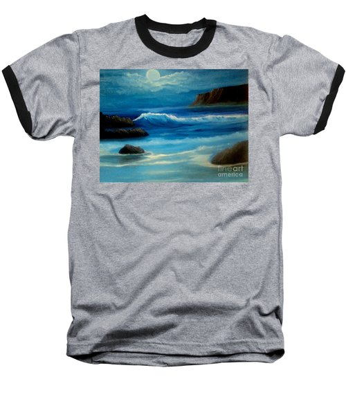 Baseball T-Shirt featuring the painting Illuminated by Holly Martinson