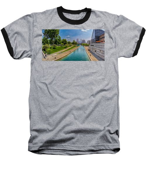 Indianapolis Skyline From The Canal Baseball T-Shirt