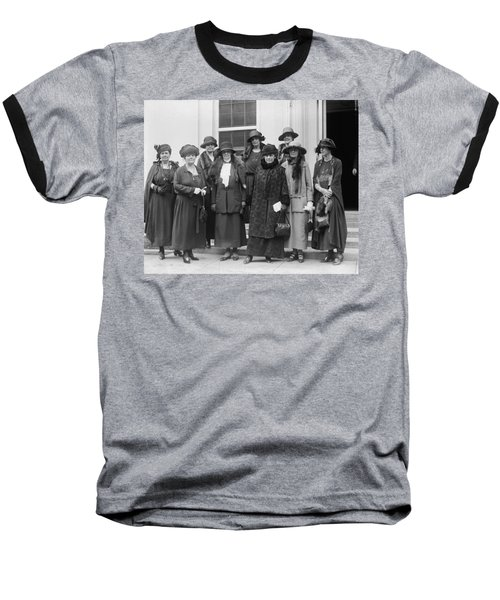 Baseball T-Shirt featuring the photograph League Of Women Voters by Granger