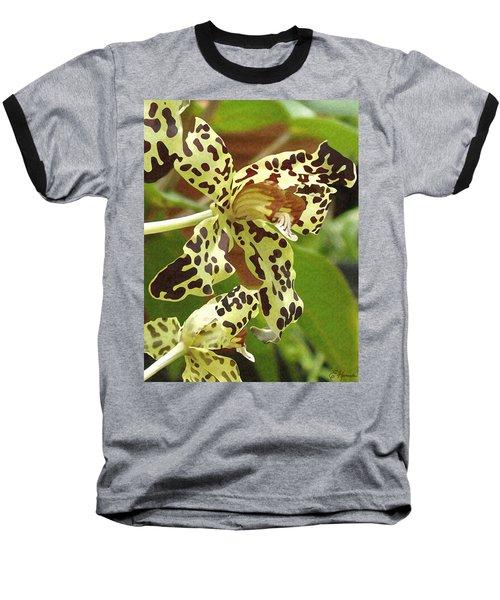 Leopard Orchids Baseball T-Shirt