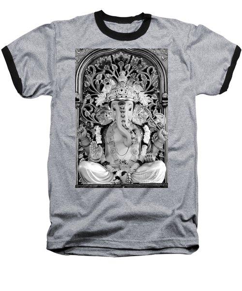 Lord Ganesha Baseball T-Shirt by Kiran Joshi