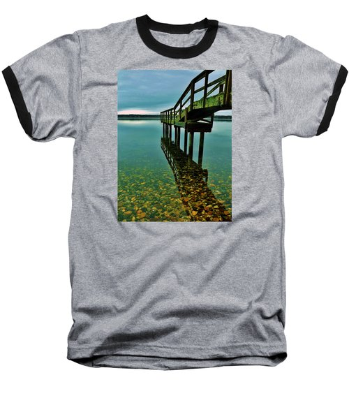 3 Mile Harbor Baseball T-Shirt by John Wartman