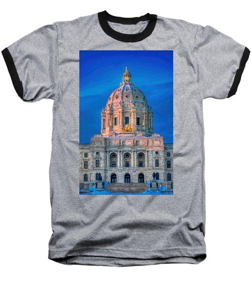 Minnesota State Capitol St Paul Baseball T-Shirt by Amanda Stadther