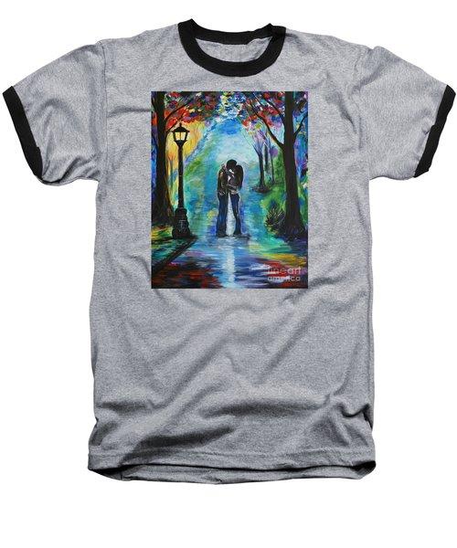 Moonlight Kiss Baseball T-Shirt by Leslie Allen