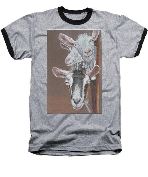 3 Nosey Goats Baseball T-Shirt