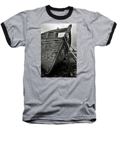 Old Abandoned Ship Baseball T-Shirt by RicardMN Photography