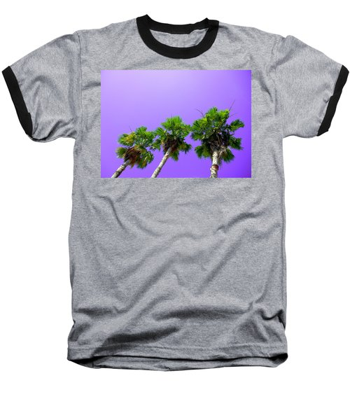 Baseball T-Shirt featuring the photograph 3 Palms by J Anthony