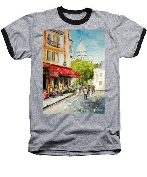 Paris Cafe Baseball T-Shirt