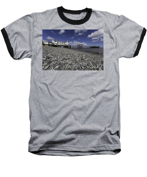 Penarth Pier 2 Baseball T-Shirt by Steve Purnell