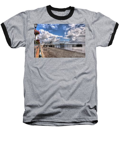 Penarth Pier 3 Baseball T-Shirt by Steve Purnell