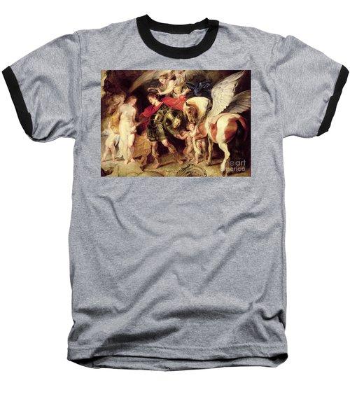Perseus Liberating Andromeda Baseball T-Shirt by Peter Paul Rubens