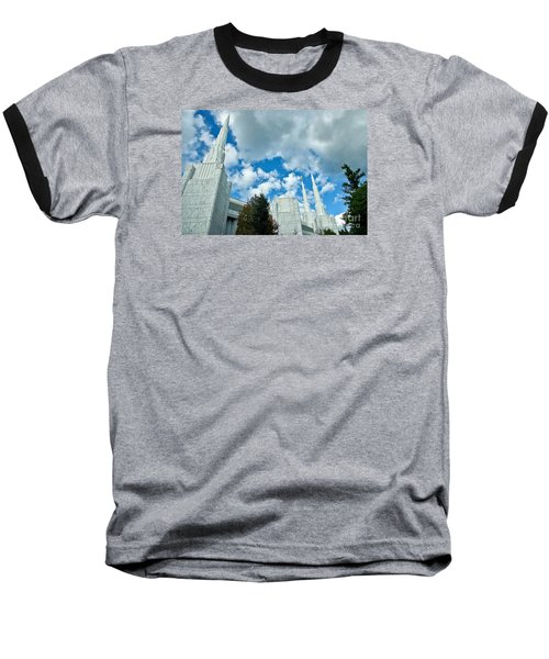 Baseball T-Shirt featuring the photograph Portland Oregon Lds Temple by Nick  Boren