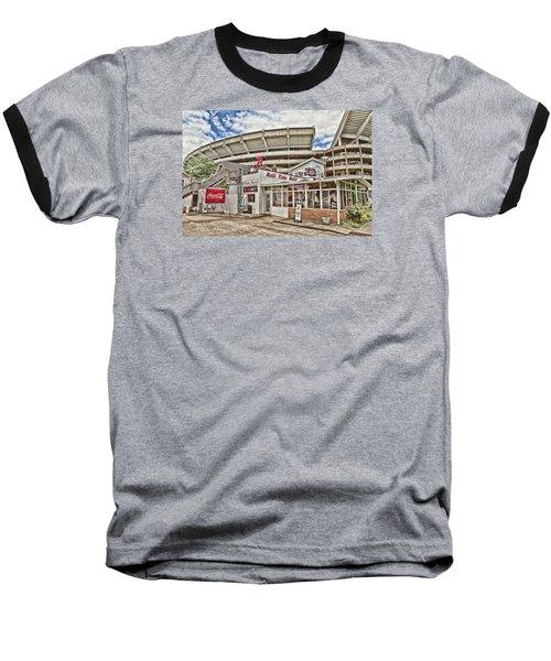 Shadow Of The Stadium Baseball T-Shirt by Scott Pellegrin