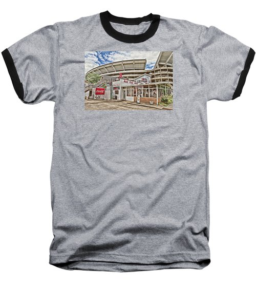In The Shadow Of The Stadium - Hdr Baseball T-Shirt