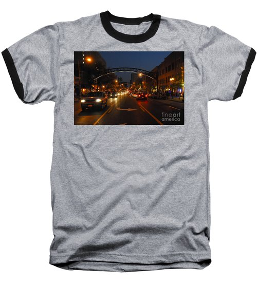 D8l-152 Short North Gallery Hop Photo Baseball T-Shirt